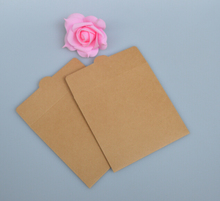 50pcs Custom Make Kraft Paper Sleeves Envelopes Logo Stamp Media CD DVD Jewelry Gift Packaging & Storage Wrapping Bags Box