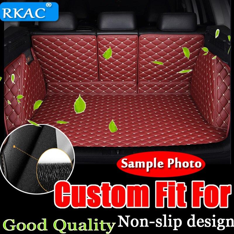 RKAC пользовательские багажник автомобиля коврик для Audi все модели A3 Q5 Q3 Q7 A5 A7 SQ5 A8 Тюнинг автомобилей авто аксессуары пользовательские грузов