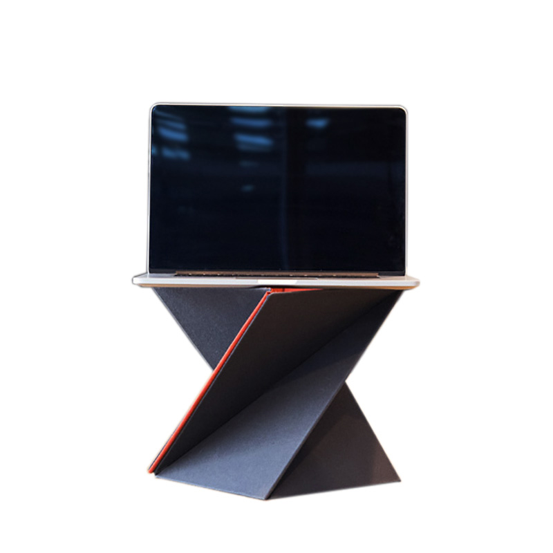 laptop stand levit8 ergonomic laptop lapdesk for laptop pc notebook computer foladed adjustable laptop standing desk