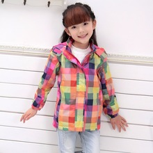Children Outerwear Warm Coat Waterproof Windproof Baby Girls Jackets Sporty Kids Clothes Double-deck For Age 4-10 Years Old