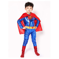 Halloween Boys Muscle Super Hero Costume New Cosplay Batman Costumes For Children Superman Carnival Masquerade Party Clothing