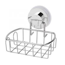 Stainless Steel Storage Rack Organizer For Sponge Free Punch Wall Mounted Kitchen Bathroom Shelf Basket w/ Strong Suction meotiys stainless steel strong suction bathroom shelf wall dual sucker shower basket bathroom basket wall mounted