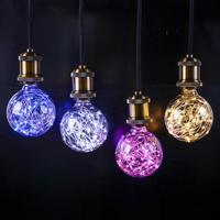 Edison vindima Lâmpada LED E27 85 V-265 V Retro Filamento Da Lâmpada Incandescente de decoração Do Feriado Luz da Corda de Fio de Cobre luzes Lampada