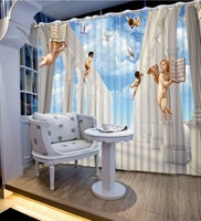 Photo 3D Curtains for Living Room Window sky curtains