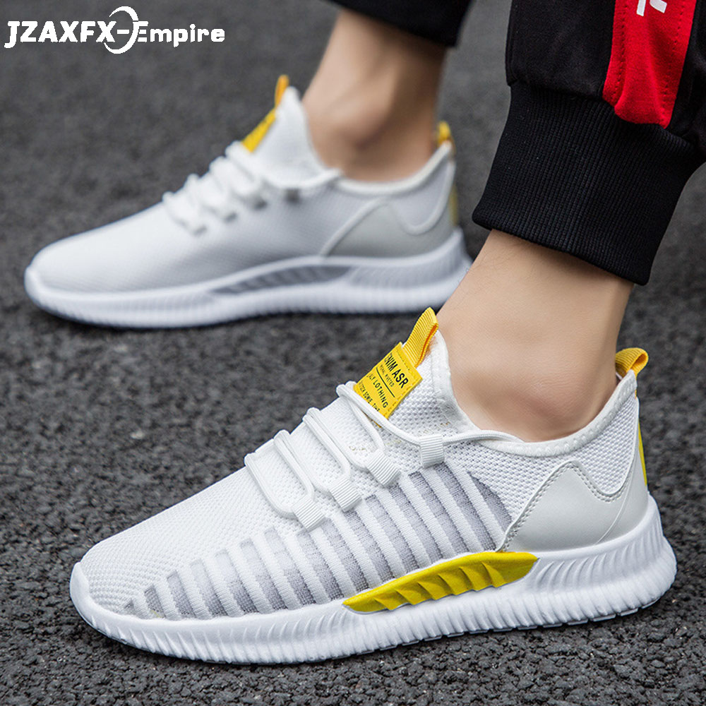 Men Sneakers 2019 Summer Beathable Mesh Walking Shoes Comfort  LightWeight Tenis Masculino Adulto For
