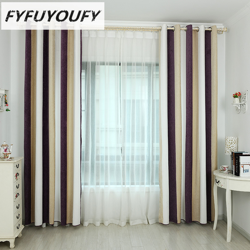 modern rustic design Yarn Dyed jacquard organza tulle curtain fabric for window Linen Blackout drapes Home Decor