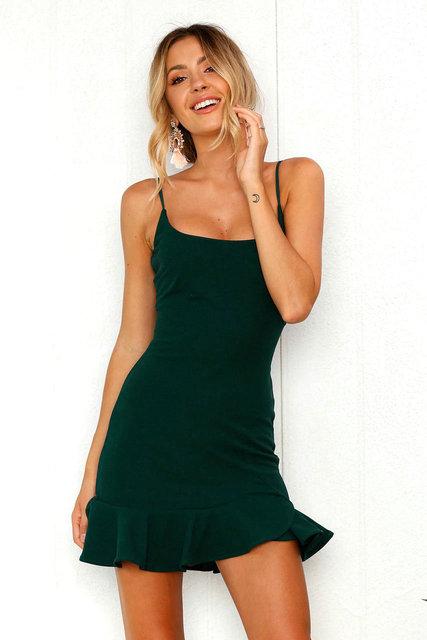Sexy Green bandelettes dress for women kawaii elbise kyliejenner Dresses streetwear vestiti donna long gowns de verao 2018  1