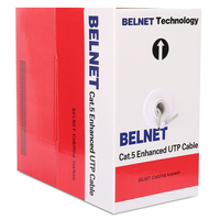 BELNET 305M 1000FT bulk CAT5E UTP RJ45 Ethernet cable network lan cable 24AWG Solid Twisted Pair OFC for network construction