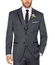 New Dark Gray Men Bridegroom Suits Groom Tuxedos Formal Business Suits Party Suits Custom Made