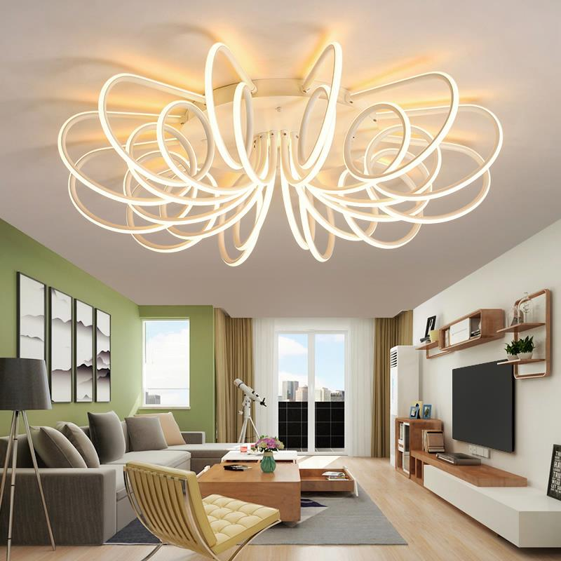 LED ceiling lights Nordic creative living room lamp modern minimalist bedroom lamp led ceiling lamp personalized home ledceiling light living room modern minimalist art creative led ceiling lamp nordic home bedroom lamp abaju