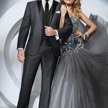 Смокинги для Жениха Лучший мужской костюм жениха Мужчины Свадебный костюм куртка+ брюки+ жилет жениха одежда