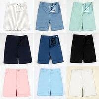 Mùa hè Màu Hồng/Blue/White/Black Toddler Trai Ngắn Rắn Sọc Kẻ Sọc Quần Âu cho Trận Đấu Blazer Chính Thức t-shirts/Blazers