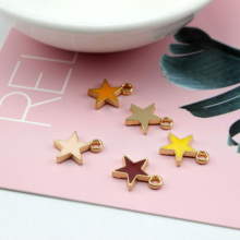 6pcs lovely diy handmade colorful jewelry accessories alloy drops oil pendant star earrings for women material wholesale