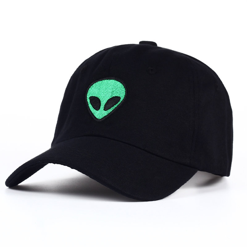 alien baseball cap pacsun brandy melville emoji fans black cool hat embroidery caps unisex fashion sport adjustable