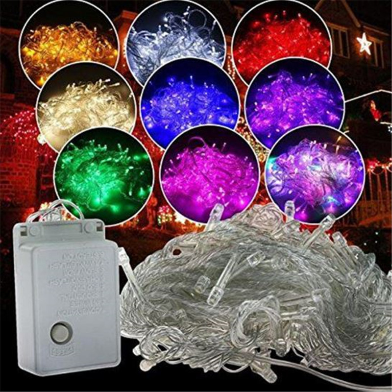 10M 5M 100Led 40Led String Garland Christmas Tree Fairy Light Luce Waterproof Home Garden Party Outdoor Holiday Decoration PT5