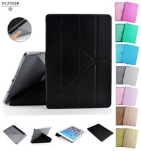 Official Smart Case For Apple ipad Air 2  (2014 ) A1566`A1567 ,YCJOYZW-New PU Leather Smart Cover Auto Sleep TPU soft shell цена и фото