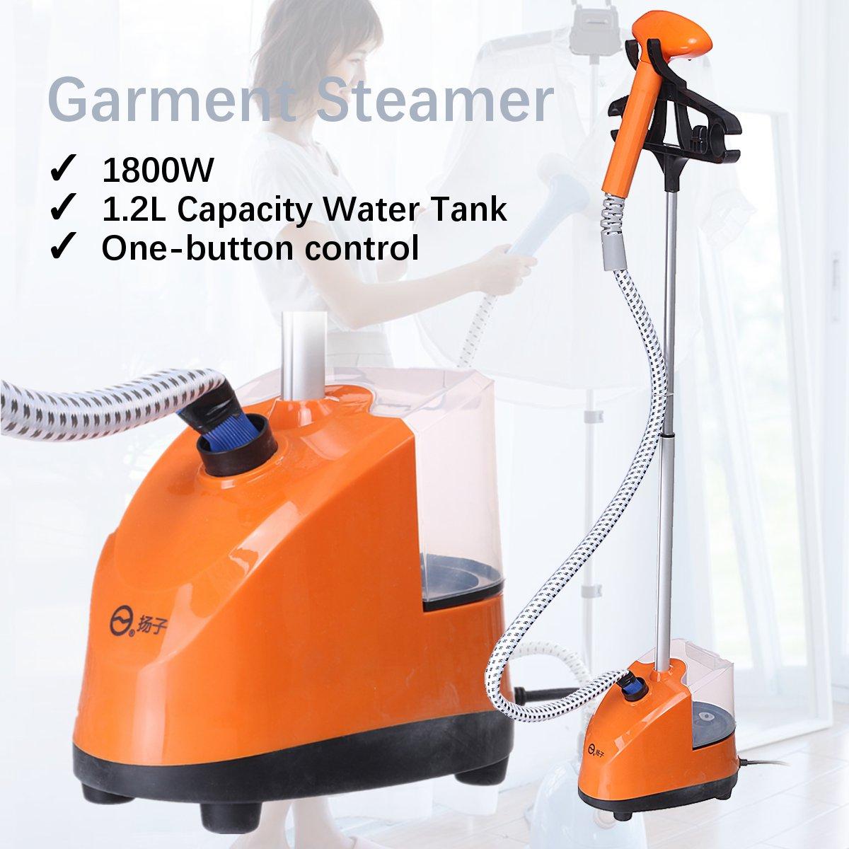 1.2L 1800W Electric Garment Steamer Cloth Fabric Wrinkle Ironing Machine Hanger Heat Water Tank Hanging Steamer Machine 220V