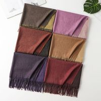200 * см 65 см для женщин теплые шарфы для модный шарф двойной шарф в разных цветов осень зима шаль Дамы Твердые Элитный бренд женский обертывания