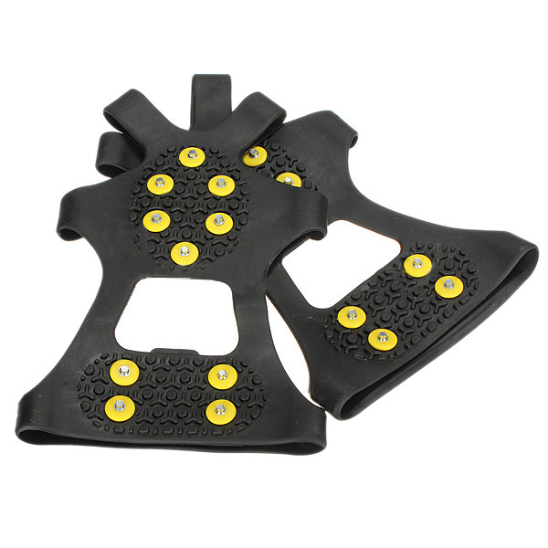10 pcs (ASDS Sobre Sapato Anti Slip Snow Shoes Grampos Grampos-M