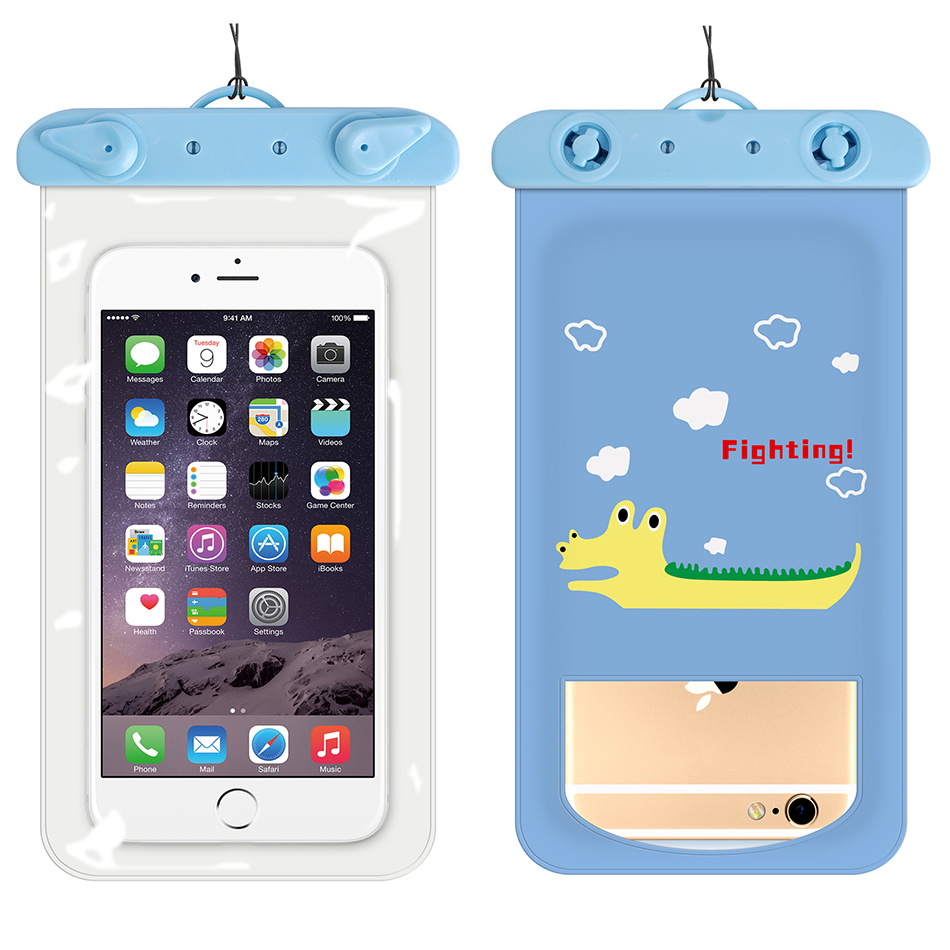 !ACCEZZ PVC Waterproof Phone Case Bag 6 inch For iPhone XR Xiaomi Huawei Samsung Swimming Outdoor Mobile Phone Pouch Cover Case (5)