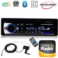 Radio cassette player 1 DIN FM AM AUX Bluetooth Car Radio Audio Stereo USB SD Card Slot DAB+ RDS Car Audio MP3 Player Autoradio