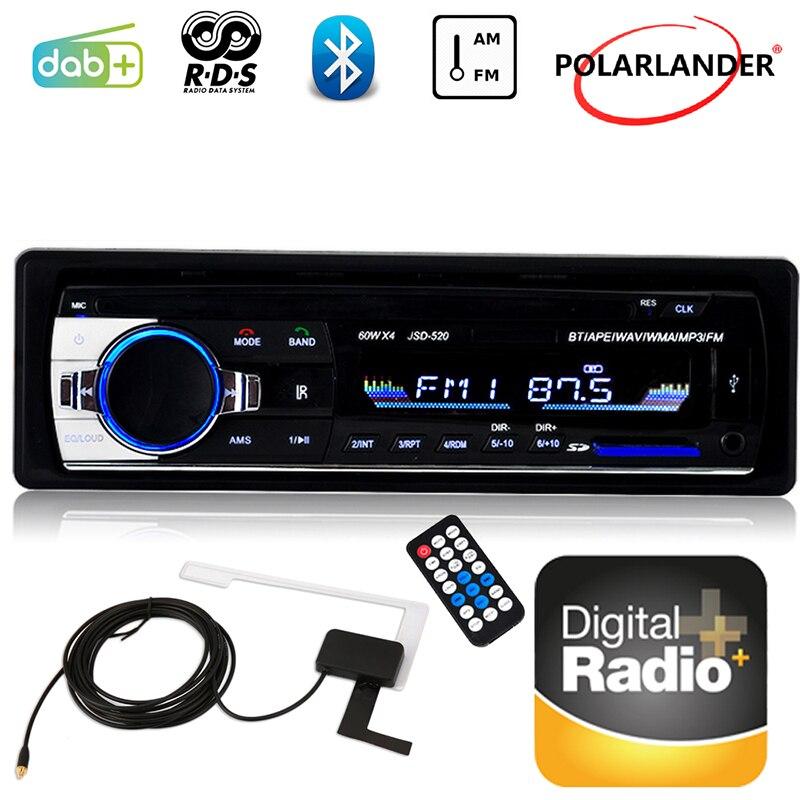 UM 1 DIN AM FM AUX Rádio Do Carro Do Bluetooth USB E Slot Para Cartão SD De Áudio Estéreo Do Carro DAB + RDS áudio do carro MP3 Player Mais Recente LCD Dispaly