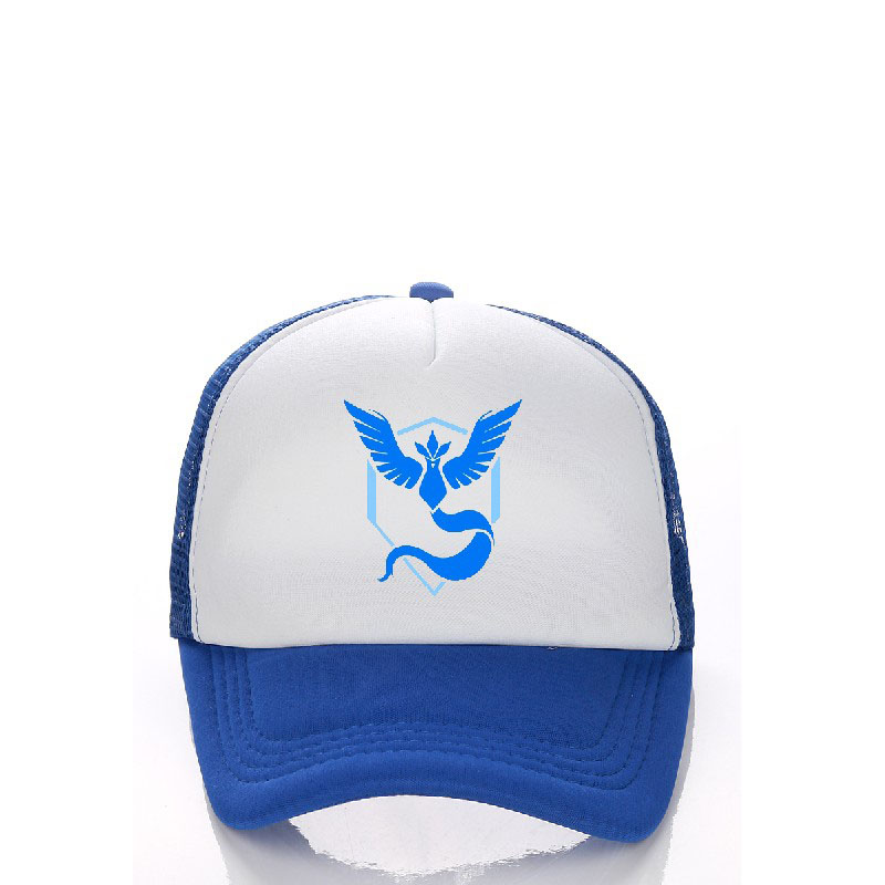 Cosplay Props Mobile Game Pokemon GO Pocket Monster APP Game Baseball Cap peaked cap Hat Camp logo Free shipping Visors