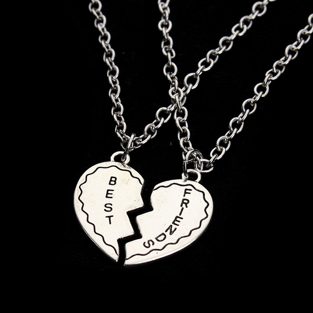 2016 new style jewelry best friend gift heart broken pendants 2016 new style jewelry best friend gift heart broken pendants necklaces alloy antique sliver necklace for aloadofball Choice Image
