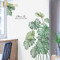 Plant Palm Tree Wall Sticker For Office Room Creative Kitchen Vinyl Stickers Refrigerator Modern Home Decor