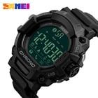 ✔  SKMEI Bluetooth Smart Watch Мужчины Спорт на открытом воздухе Цифровые наручные часы Шагомер APP Нап ①
