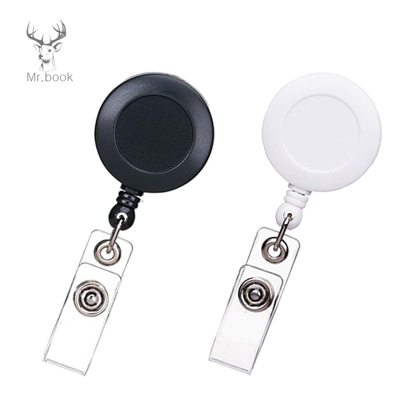 4pcs Retractable Pull Badge Reel Nurse Doctor Exhibition Pull Key ID Card Name Card Badge Holder School Office Supplies