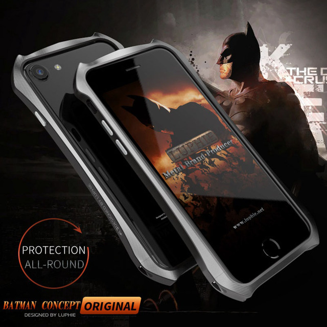 new product 92652 adc23 US $14.44 15% OFF|BATMAN Cool Design Aluminum Case For iPhone 7/ 7 Plus  Bumper Case Frame Protection Metal Phone Case Cover Luphie Brand For Man-in  ...