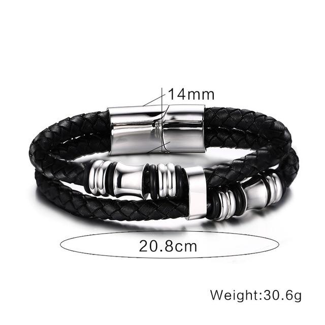 2020 модный мужской браслет черные ювелирные изделия из искусственной фотография
