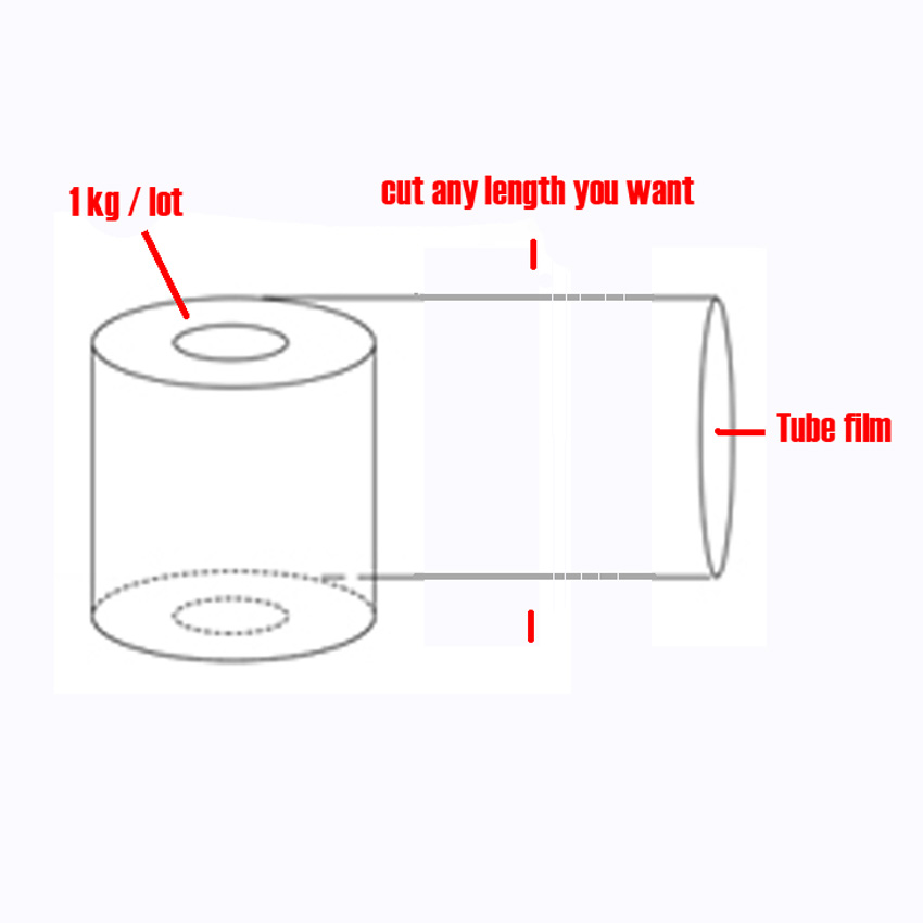 US $38 75 |1kg/roll 5/6/7/~ 32cm widths POF Heat Shrink Wrap tube wholesale  in roll Clear Plastic Polybag Gift Cosmetics Packaging DIY cut-in Gift