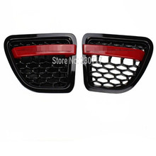 Black Red GRILLE RANGE ROVER SPORT Wing SIDE VENT AIR for LAND 06-09