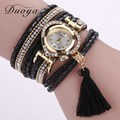Duoya Women Brand Luxury Gold Heart Snake Leather Magnet Buckle Bracelet Wrist Watch Ladies Dress Quartz Watch Clock Electronic