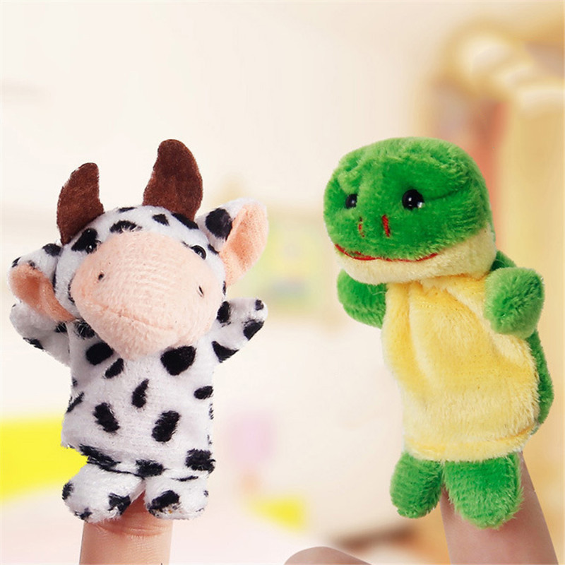 10 Pcs/lot Christmas Mini Plush Baby Toy Animal Family Set Fish Australia Princess Bug Boys Girls Finger Puppets