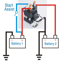 4 Pin 12V AMP 500A Relay Car Accessory Starter On/Off Power Switch Dual Battery Isolator High Quality