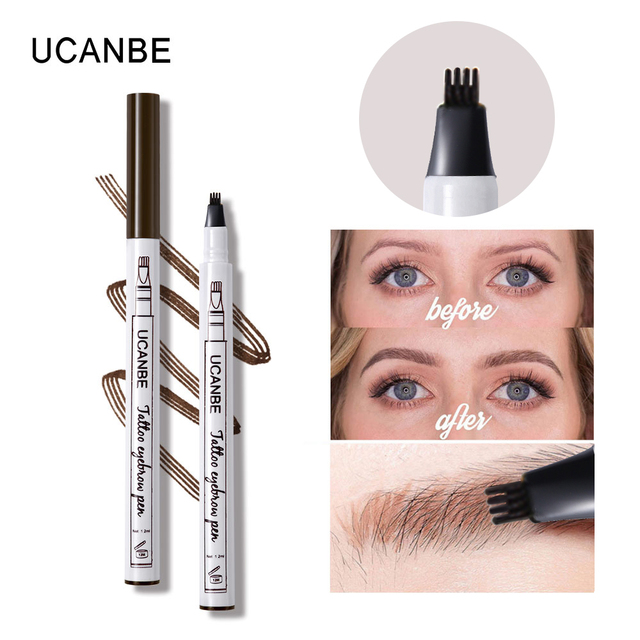 UCANBE Cosmetics Fine Sketch Liquid Eyebrow Pencil Makeup Waterproof Durable Tattoo Smudge-proof Eye Brow Pen