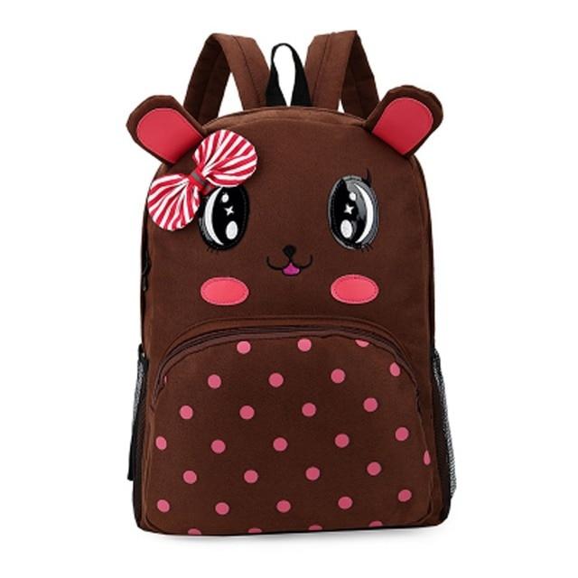 84f76e9034 Hot sale brown colour new many cute cartoon picture bag children school bags  kids backpack gift for children mochila infantil