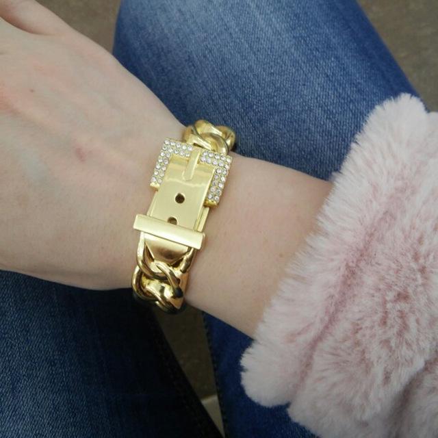 Rhinestones Metal Bracelets and Bangles