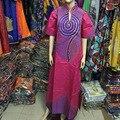 2015 Специальный Мода Красочные 1/2 Рукав Женщины Вышивка Riche Традиционные Африканские 100% Хлопок Красивый S2375
