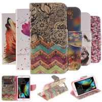 Caque For LG K10 Fashion Colorful Painting Leather Cover Case For LG K10 M2 Cases Cover