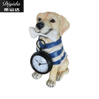 TUDA Free Shipping 8inch Modern Creative Design Table Clock Exquisite Lovely Puppy Resin Table Clock For