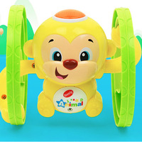 2017 New Toy 1 Piece Chain Winding Monkey Toy With Light Music Cute Animal Tin Baby