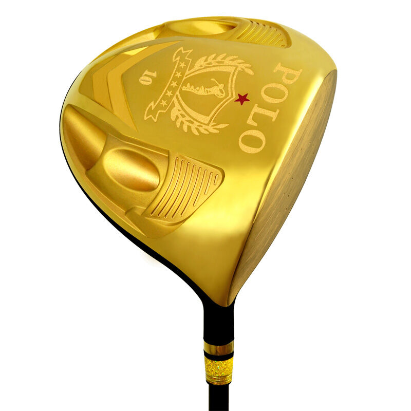 POLO Men's Golf Clubs Driver Right Hand Cast Titanium Alloy 1# Woods /SwingWeight D1/ Shaft Hardness SR / Graphite Regular Gold