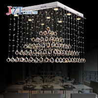 GETOP Modern Crystal Pendant Chandelier Light Bedroom lights Hallway Bar Balcony Square LED Lamp livingroom Restaurant droplight