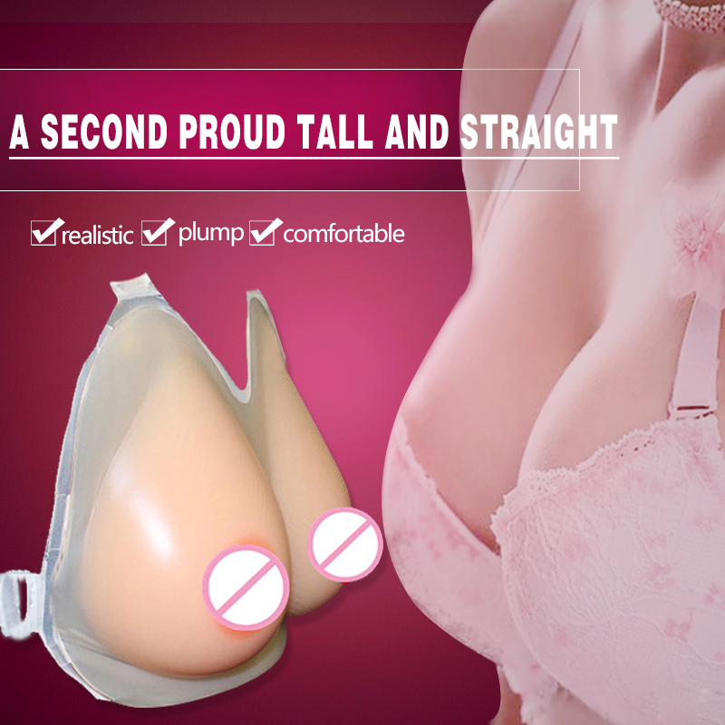 ФОТО Sexy Silicone Breasts Toy for Man Soft Artificial Boobs Forms 800g/pair Shemale Crossdresser Favorite