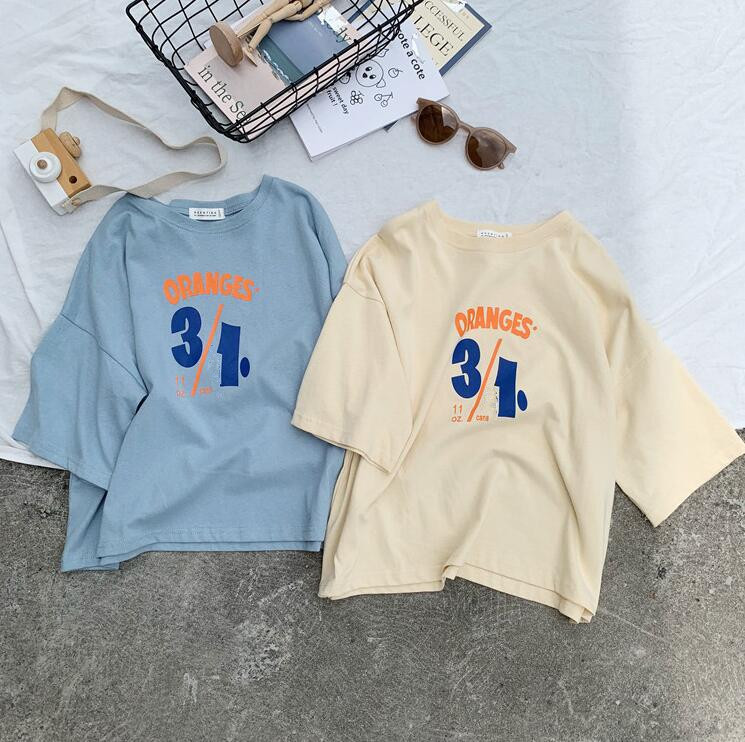 2019 Korea style girls printed t-shirt cotton long sleeve fashion autumn kids top tees 1-6t(China)