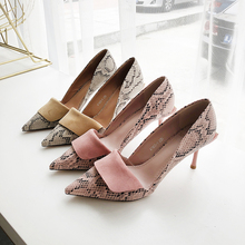 High Heels Sandals Women Fashion Leopard Pumps Summer Spring Shoes 2019 New Soft Slip On Sexy Pink